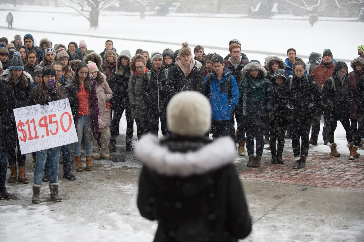 """We have had enough,"" Natalie Brown, president of Cornell Democrats, declared."