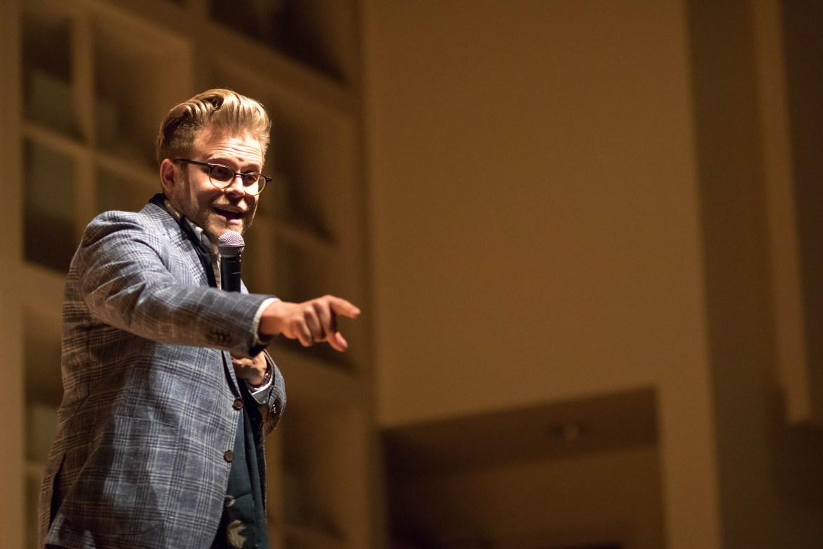 Adam Conover at Statler on March 23, 2018.
