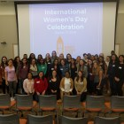Students and faculty alike gathered to discuss feminism at a luncheon honoring International Women's Day.