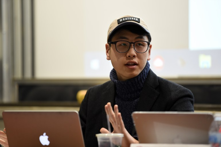 Jung Won Kim '18, the current Student Assembly president.