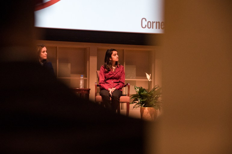 A panel gathered at Statler Auditorium on Wednesday to discuss female entrepreneurship in the tech industry.