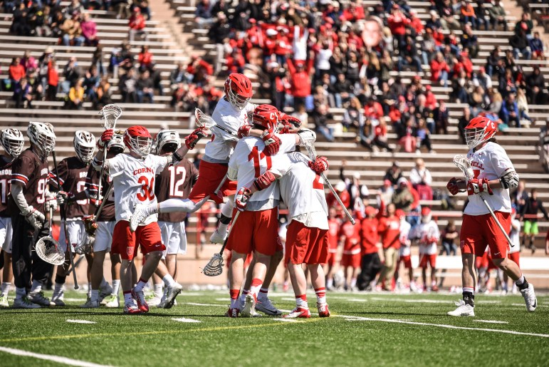 The men's lacrosse team dominated Brown 19-5 on Saturday to claim the No. 2 spot in the Ivy League Tournament.