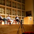 Niraj Shah '95 and Steve Conine '95, co-founders of WayFair, spoke at a Q&A event in Alice Statler Auditorium on Thursday.