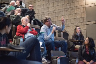 The proposed consensual relationship policy drew heated debate at the Faculty Senate meeting on April 25.