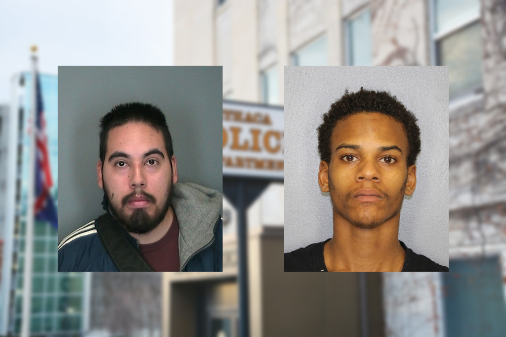 Ithaca police arrested Benjamin Brancato (left) and Darryl Bradshaw, who are responsible for the two robberies last week.