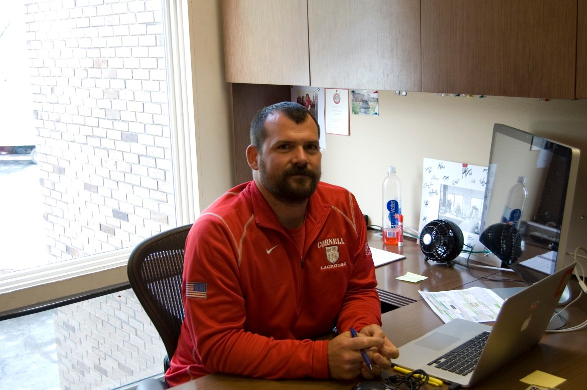 "Interim head coach Peter Milliman is ""excited tobe playing [Cornell's brand of] lacrosse."""