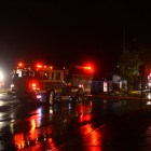 Firefighters and police responded to a fire on the corner of Green Street and Fulton Street.
