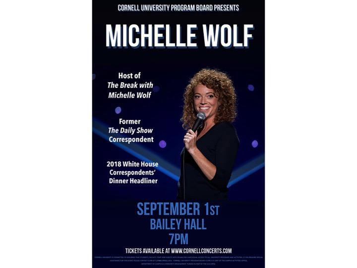 Comedian Michelle Wolf will visit campus on Sep. 1.
