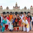 Indian immersion   Students pose outside Mysore Palace in Mysore, India. During the collaboration with the Swami Vivekananda Youth Movement, students were immersed in Indian culture.