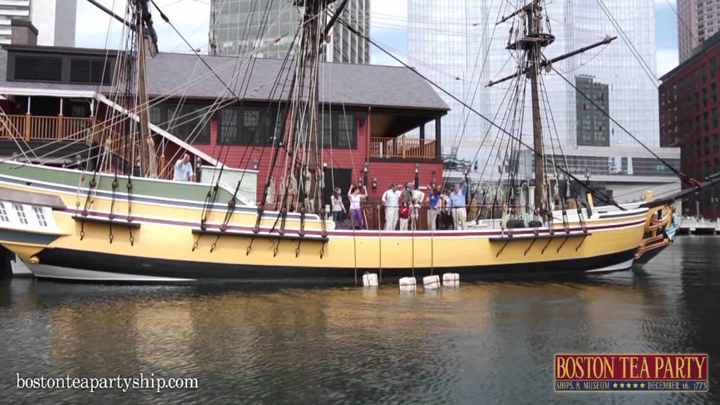 The Boston Tea Party Museum. You can see the deck above the ships in this photo.