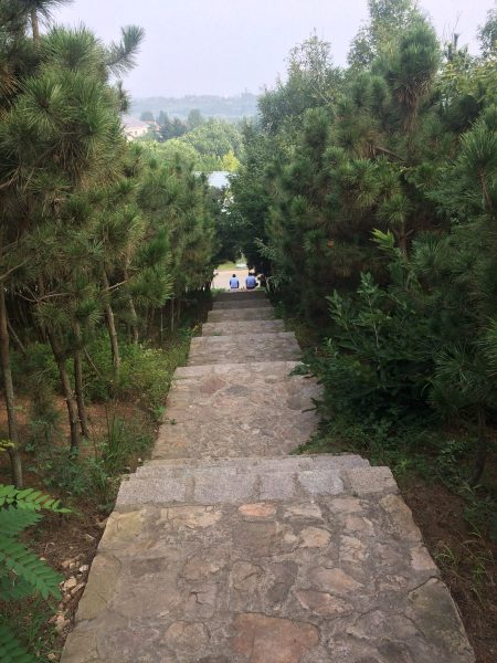 Do you see the guards at the bottom of the hill? I needed to ask their permission before climbing these stairs.