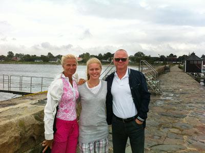 Mamma, jag och pappa i Barsebäck.