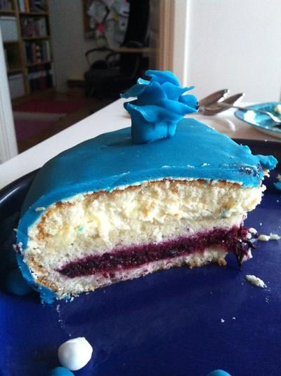 Uppskuren tårta.