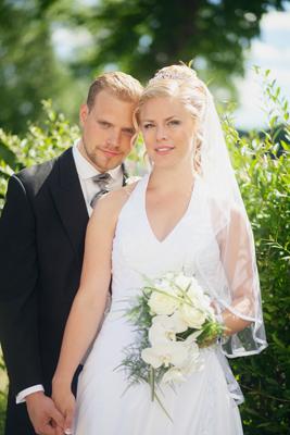 L och jag på vår bröllopsdag
