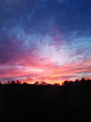 Solnedgång på väg hem.