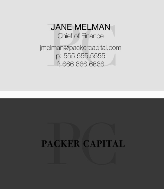 Packer Capital Business Card