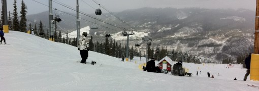 View of Dillon from Schoolmarm at Keystone Mountain