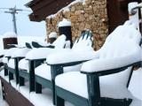 Snowy Chairs at Beaver Creek (on Twitter)