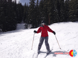 Rachel on skis at Beaver Creek