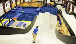 Top of the Snowflex ramps