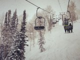 Snow from the chair at Aspen on Jan 28, 2013