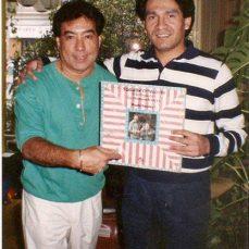 Con Tommy Olivencia
