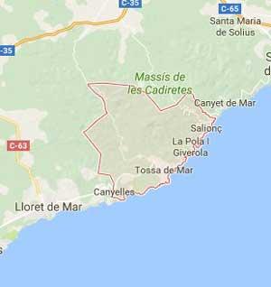 map tossa