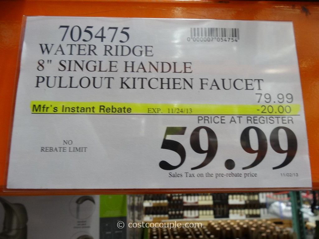 water ridge pull out kitchen faucet pull out kitchen faucet Water Ridge Single Handle Kitchen Faucet Costco