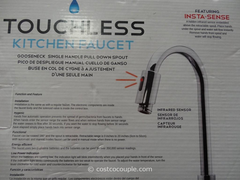 royal line touchless chrome kitchen faucet touchless kitchen faucet Royal Line Touchless Chrome Kitchen Faucet Costco 5
