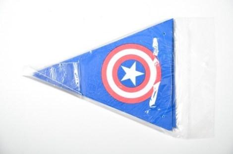 Banderin Papel Capitan America