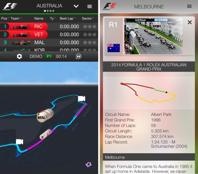 Official F1 App for iPhone