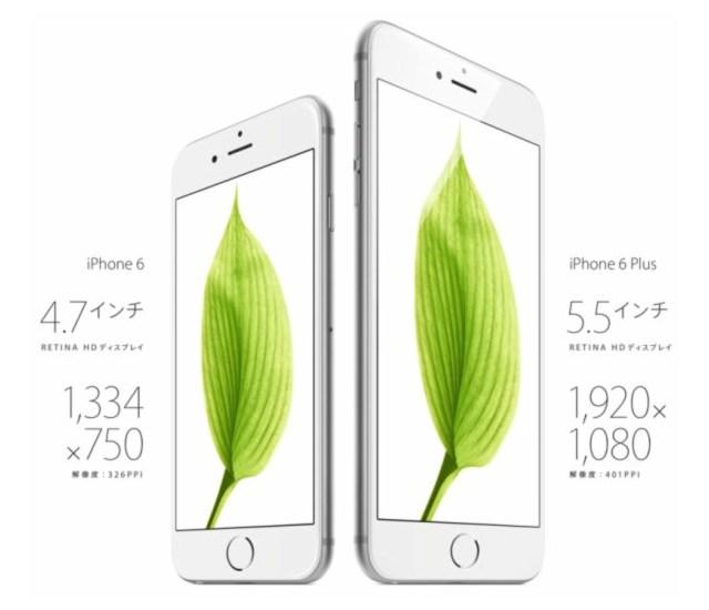 「iPhone 6」「iPhone 6」サイズ