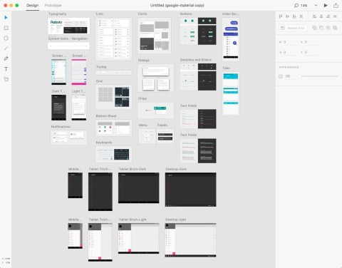 Adobe XD - UI Kits - Google