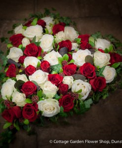 Red & White Rose Heart