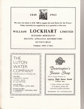 Beavington's Flower Shop & William Lockhart of Dunstable and The Luton Water Company