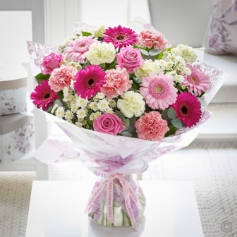 mothers day pretty in pink hand tied