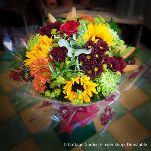 Autumnal Shades Hand Tied