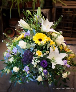 White, Yellow & Purple Arrangement