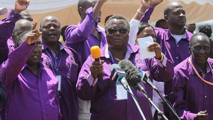 COTU-K Secretary General Atwoli Lead other Trade Unionist in Mourning Bro. Dennis Akumu
