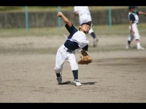 少年野球の遠投