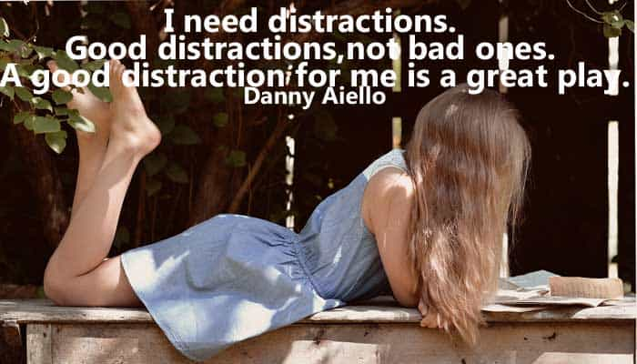 How do you distract yourself from pain?