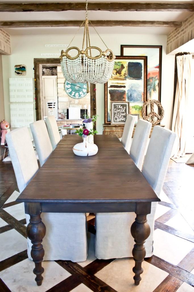 Dining room of interior designer Brittany Ragsdale-Sugg