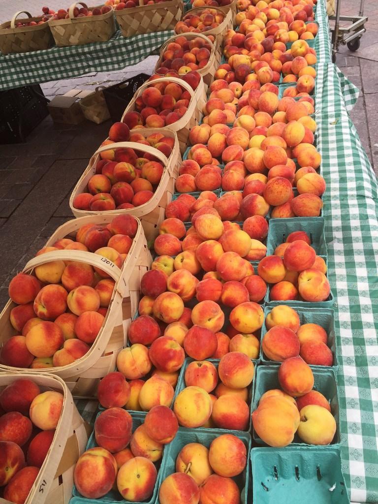 Charlotte bushels of peaches