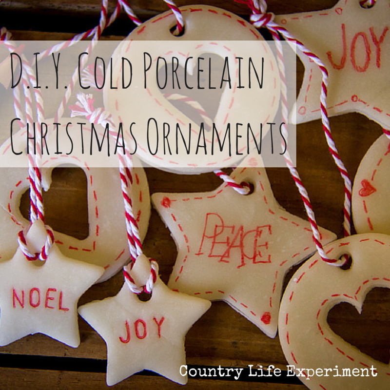 DIY | Cold Porcelain Christmas Decorations