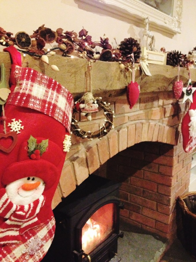 A Christmas mantlepiece