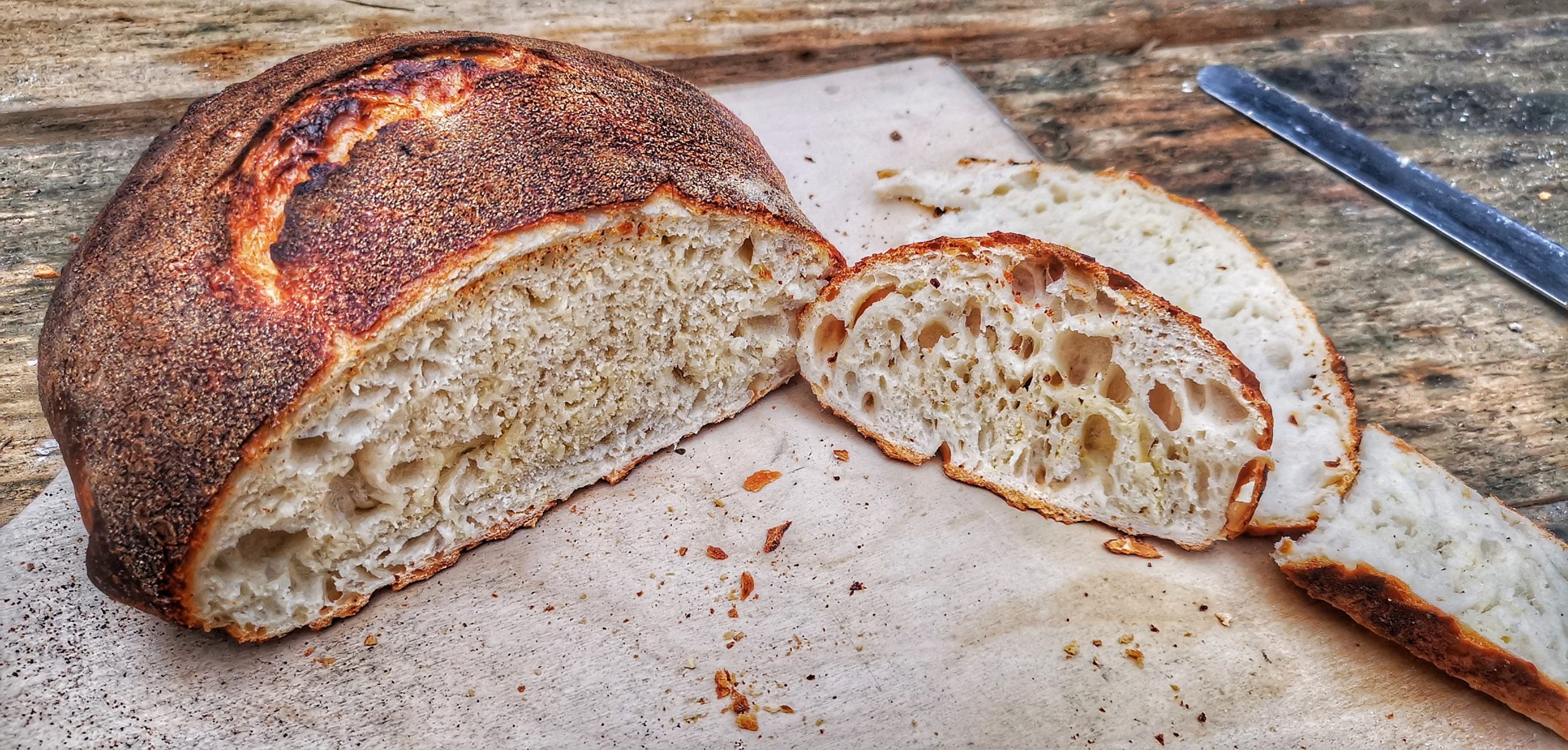 Wood Fired Bread – No Knead Dough