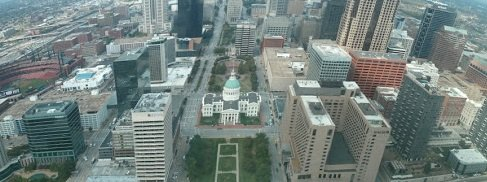 st louis arch pic from the top