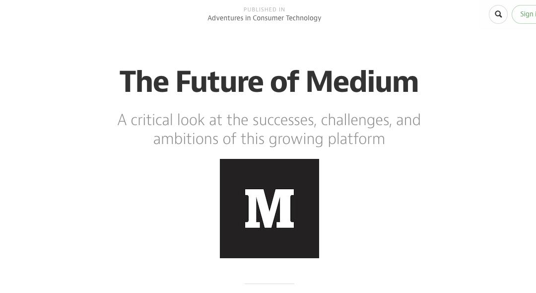 The message is Medium