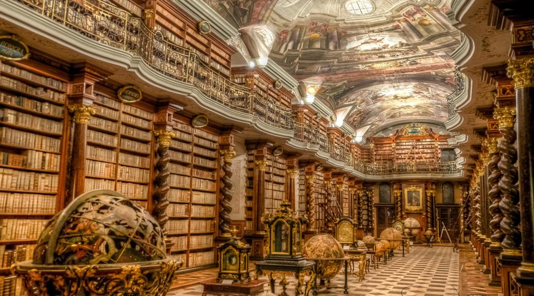 Photo, Library of Escorial Spain