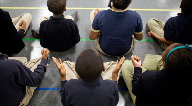 black kids at charter school
